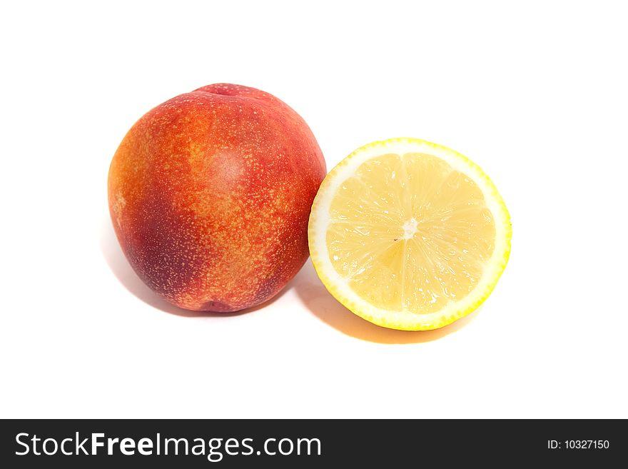Lemon and nectarine