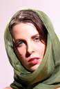 Free Woman With Green Scarf Stock Photography - 10331372