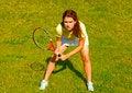 Free Girl Playing Tennis Royalty Free Stock Images - 10332699