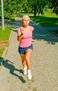 Free Running Girl Royalty Free Stock Photos - 10332928