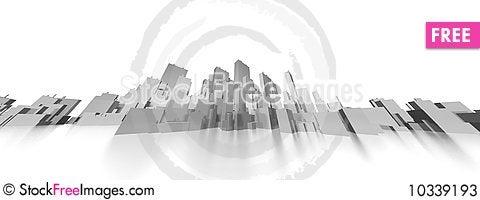 Free Big City Skyline Extreme Panorama Stock Photos - 10339193