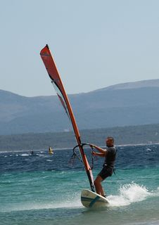 Free Windsurfing @ Zlatni Rat Beach Stock Images - 10330224