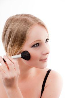 Free Young Woman Applies Makeup Royalty Free Stock Images - 10330329
