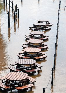 Free Flooded Tables Stock Image - 10330991