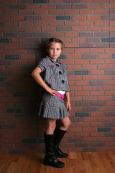 Young Girl With Cute Stylish Outfit Stock Photos