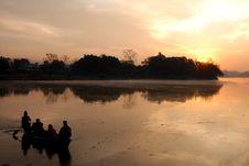 Free Sunrise On Phewa Lake Royalty Free Stock Photo - 10331365