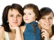 Free Mother And Two Daughters Stock Images - 10332824