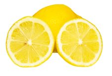 Free Lemon And Two Halfs Stock Photography - 10333282