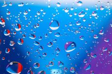 Free Coloured Drops Of Water Stock Photo - 10333290