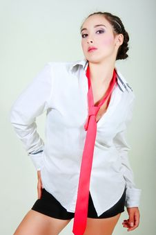 Free Businesswoman With Red Tie Royalty Free Stock Photo - 10333775