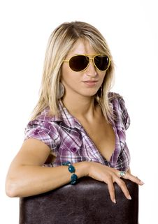 Free Beautiful Young Woman With Sun Glasses Stock Images - 10334164