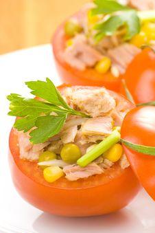 Free Tuna Stuffed Tomato Celery Corn Soya Bean Stock Image - 10335651
