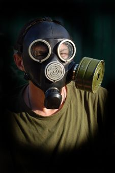 Free Person In Gas Mask Stock Image - 10336501