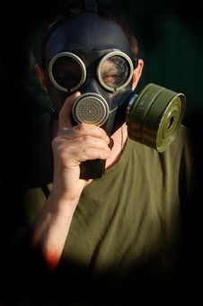 Free Person In Gas Mask Royalty Free Stock Photography - 10336507