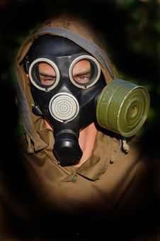 Free Person In Gas Mask Royalty Free Stock Images - 10336509