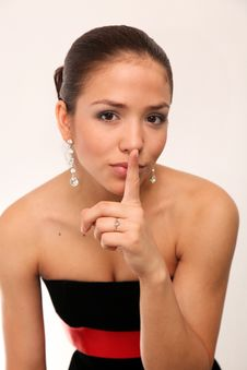 Free Young Charming Girl Shh. Secret Royalty Free Stock Photo - 10336805