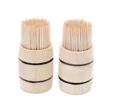 Free Two Birch Of The Toothpick In Wooden Cask Stock Photos - 10336993