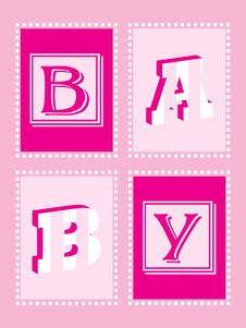 Free Baby Girl Announcement Stock Photography - 10337572