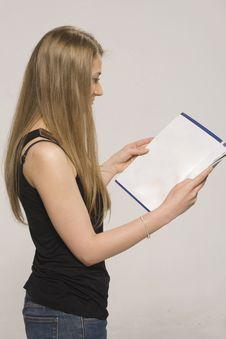 Free Girl   Reads A Book Stock Photos - 10337583