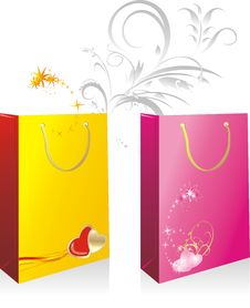 Packings For A Gifts To The Valentines Day Stock Photography