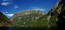On Ship Around Sognefjord Stock Photography