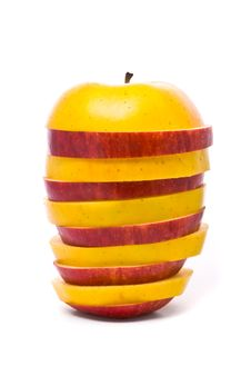 Free Sliced Yellow And Red Apples Royalty Free Stock Images - 10339789