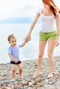 Free Mother And Son On Beach Stock Photography - 10345922