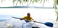 Free A Man In A Kayak Royalty Free Stock Photos - 10340218
