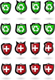 The Set  Shield Royalty Free Stock Photo