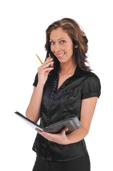 Free Businesswoman On The Cell Phone Stock Photo - 10341470