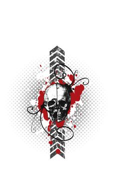 Vector Skulled, Grungy Stock Photos