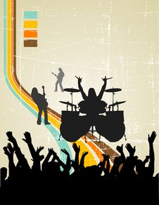 Free Music Retro Background Royalty Free Stock Photos - 10341598
