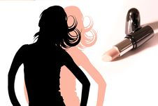 Free Lipstick Royalty Free Stock Photo - 10341815