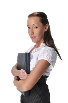 Free Young Woman With Laptop Stock Photo - 10342490