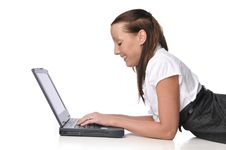Free Young Woman With Laptop Stock Photo - 10342500