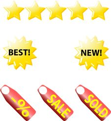 Web Icons. Internet Buttons Royalty Free Stock Photo