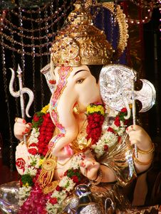 Free Beautiful Lord Ganesha Stock Photo - 10343810