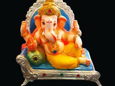 Free Elegant Lord Ganesha Royalty Free Stock Photos - 10343978