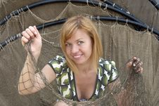 Free Woman In The Net Royalty Free Stock Photography - 10344047