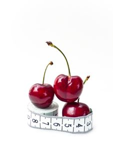 Free Cherries On Tape Measure Royalty Free Stock Images - 10344429