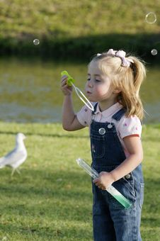 Free C - Small Girl With Bubbles 11 Royalty Free Stock Photo - 10344625