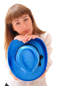 Free The Sad Girl With A Hat Stock Photography - 10344722
