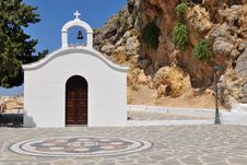 Free Most Romantic Church On Rhodes Island Stock Photo - 10345230