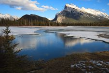 Free Snow Mountain By The River Stock Image - 10345761
