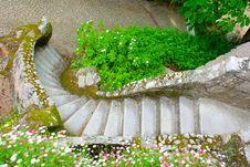 Free Garden Stone Stairs Royalty Free Stock Image - 10346386
