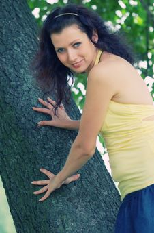 Free Blue-eyed Girl Stock Image - 10346741