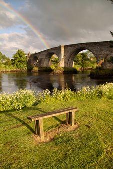Free Stirling Bridge And Rainbow Stock Photography - 10346862