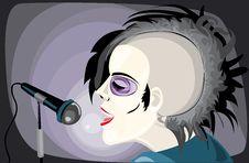 Free Punk Girl Singing Royalty Free Stock Photography - 10347607