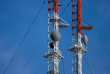 Free Radio/TV Communication Tower Royalty Free Stock Photo - 10347985