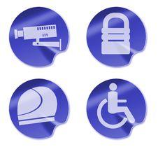 Free Camera Helmet Wheel Chair Icon Royalty Free Stock Photos - 10348048